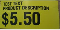Label Format 10 - Two Lines of Text and Price
