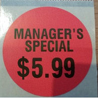 Label Format 8 - Manager's Special